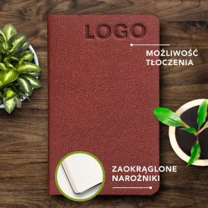 ECO NOTES ALCANTARA - Brick Red